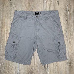 Union Denim Grey Cargo Shorts